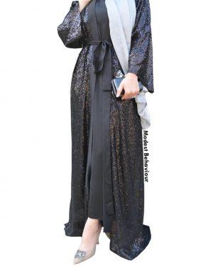 Black Shimmery Abaya