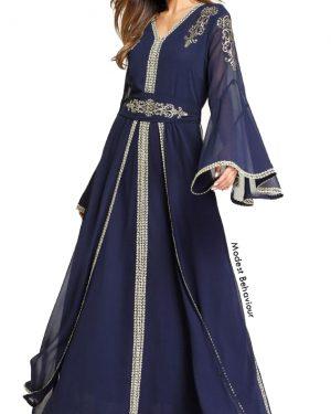 Chiffon Embroidered Traditional Dress