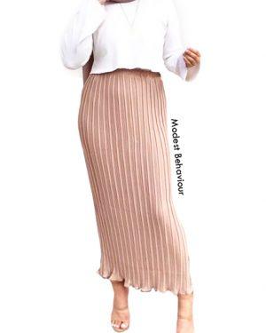 Chiffon High Waisted Crinkled Skirt