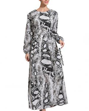 Cobra Print Maxi Dress