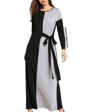 Duotone Black And White Maxi Dress