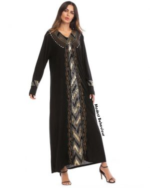Embroidered Sequins Abaya