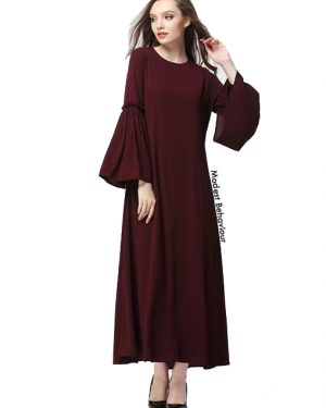 Flared Sleeve Chiffon Maxi Dress