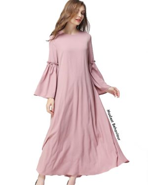 Flared Sleeve Chiffon Maxi Dress