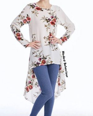 Floral Curved Top