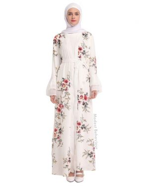 Floral Long Open Abaya