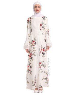 Floral Long Open Abaya