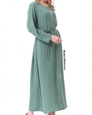 Front Zipper Maxi Dress