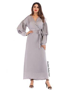 Double Lantern Sleeved Maxi Dress