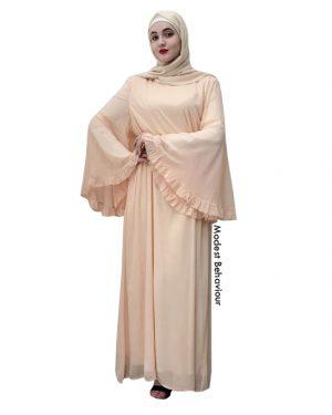 Large Flared Sleeve Maxi Dress