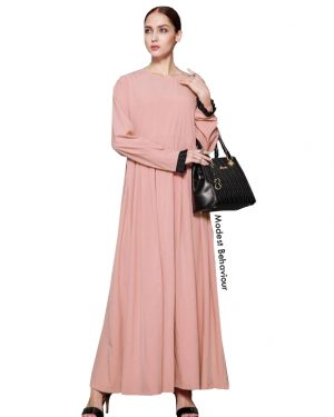 Nude Pink Abaya Dress