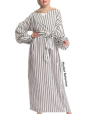 Pin-Striped Maxi Dress