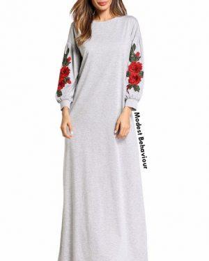 Rose Embroidered Maxi Dress
