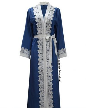 Teal Lace Abaya