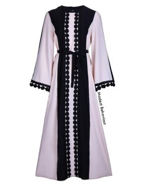 Duotone Pink and Black Abaya