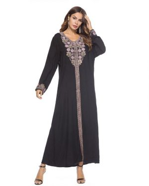 Traditional Embroidered Abaya