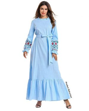 Baby Blue Ruffled Maxi Dress