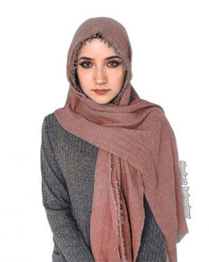 Dark Mauve Crinkled Hijab