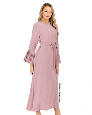 Elegant Maxi Dress With Pleats