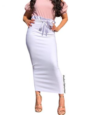 Elegant Ruffled Pencil Skirt