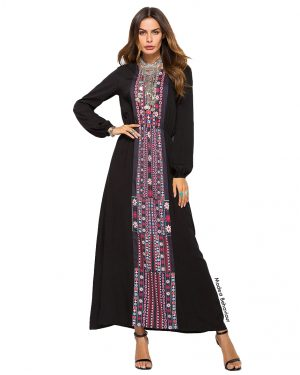 Embroidery Traditional Abaya