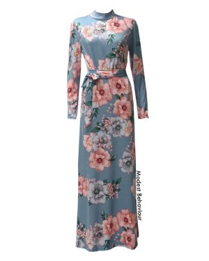 Flower Patterned Maxi Dress