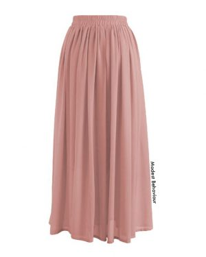 Gathered Chiffon Skirt