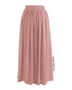 Gathered Chiffon Skirt