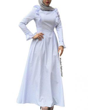 Retro Ruffled Maxi Dress