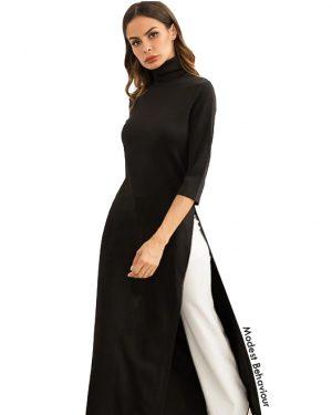 Slit Black Maxi Dress Top