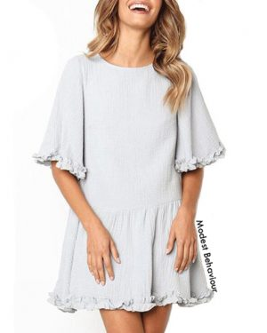 Summer Ruffled Big T-Shirt