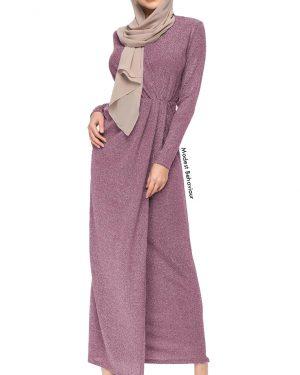 V-Neck Knit Maxi Dress
