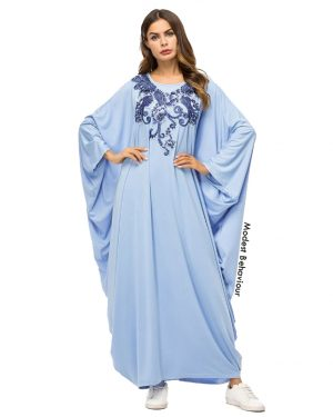 Baby Blue Butterfly Abaya