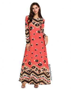 Coral Floral Maxi Dress