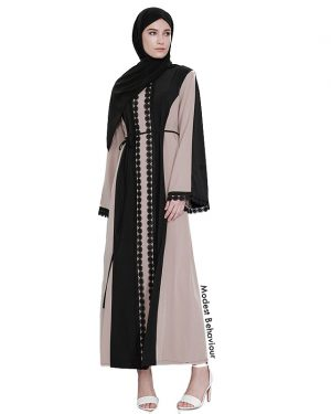 Duotone Mauve Abaya Dress