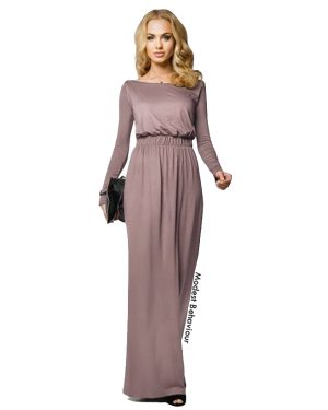 Elegantly Gathered Maxi Dress