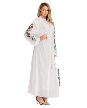 Embroidered Sleeve Open Abaya
