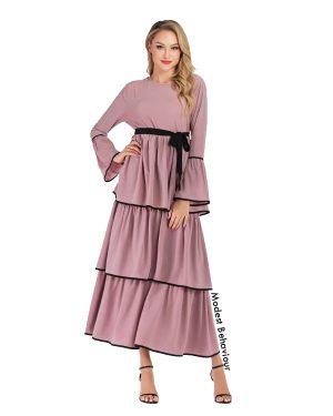 Flared And Layered Maxi Dress