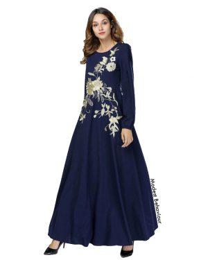 Floral Design Maxi Dress