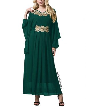 Gold Embroidered Kaftan