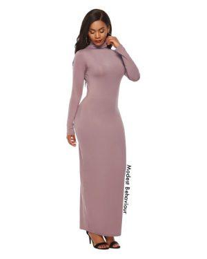 High Neck Bodycon Maxi Dress