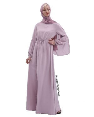 Lantern Sleeve Abaya Dress