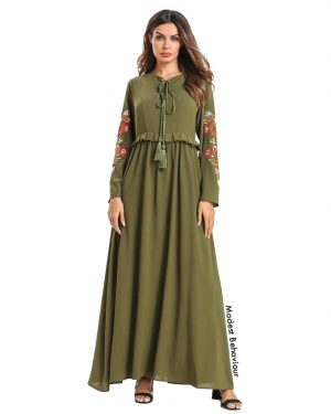 Oregano Embroidered Maxi Dress