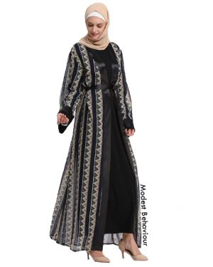 Tribal Patterned Abaya