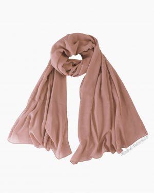 Rosy Brown Chiffon Hijab