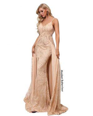 Classy Golden Evening Gown