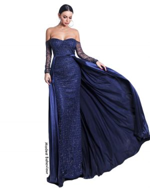 Off the Shoulders 2pc Evening Gown