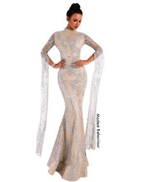 Royal Glitter Evening Gown