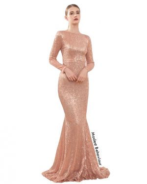 Sequins Mermaid Evening Gown