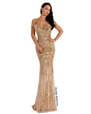 Sweetheart Sequins Evening Gown